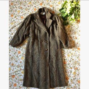 Vintage Tweed Wool Overcoat